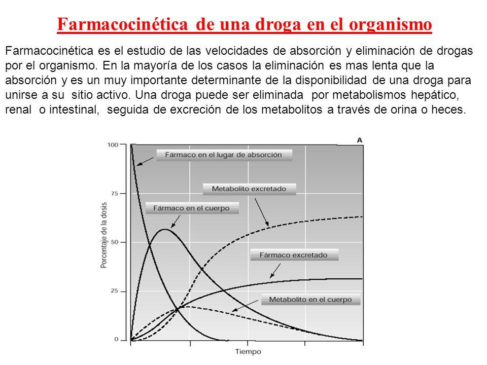 Farmacocinética de una droga en el organismo