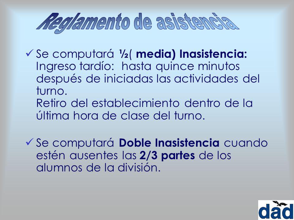 Reglamento de asistencia