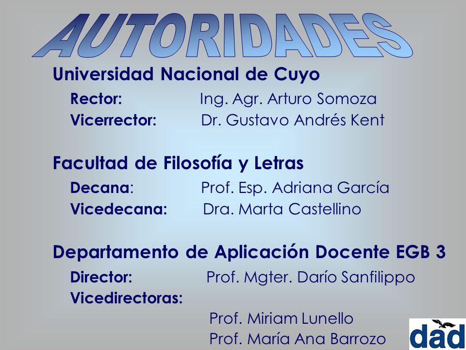 AUTORIDADES Universidad Nacional de Cuyo