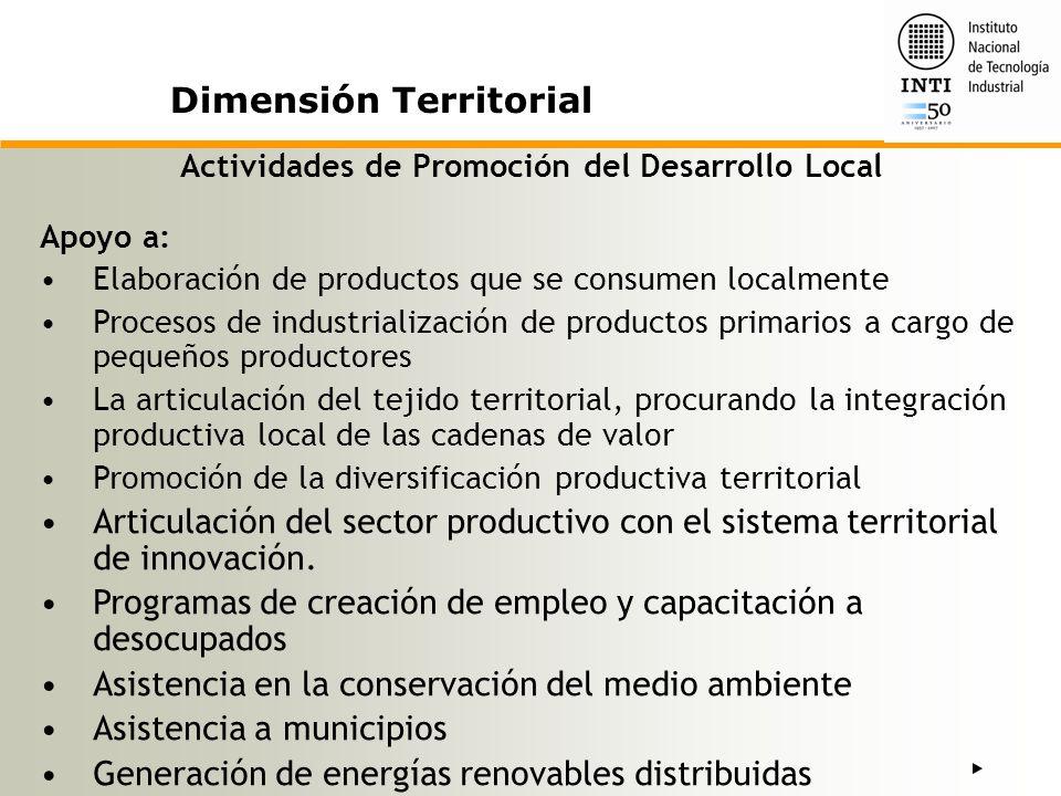 Actividades de Promoción del Desarrollo Local