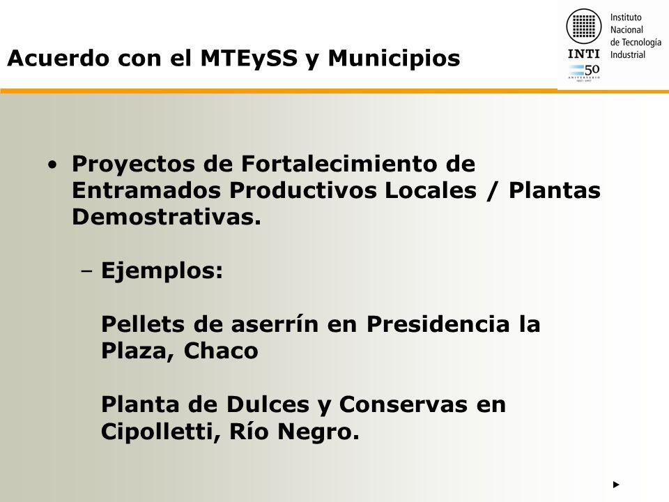 Acuerdo con el MTEySS y Municipios
