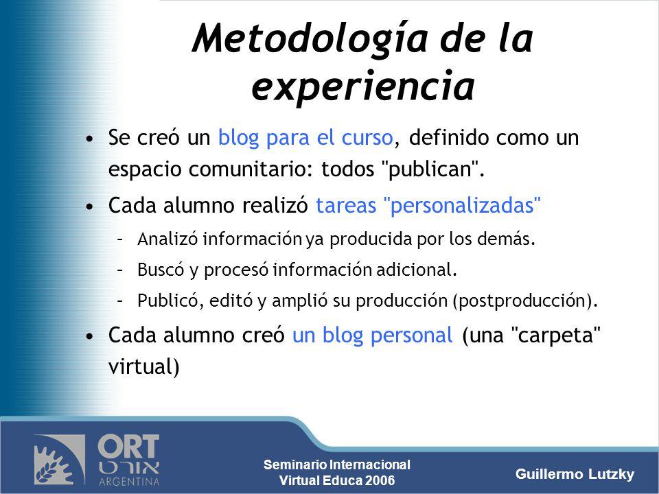 Metodología de la experiencia