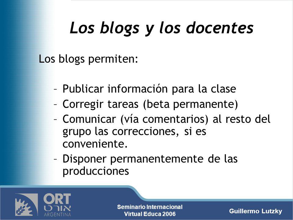 Los blogs y los docentes