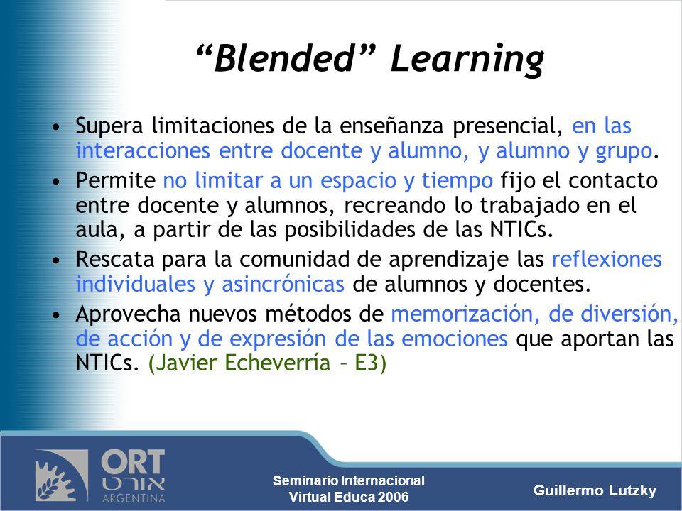 Blended Learning Supera limitaciones de la enseñanza presencial, en las interacciones entre docente y alumno, y alumno y grupo.