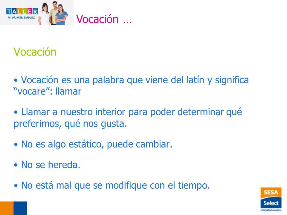 Vocación … Vocación. Vocación es una palabra que viene del latín y significa vocare : llamar.