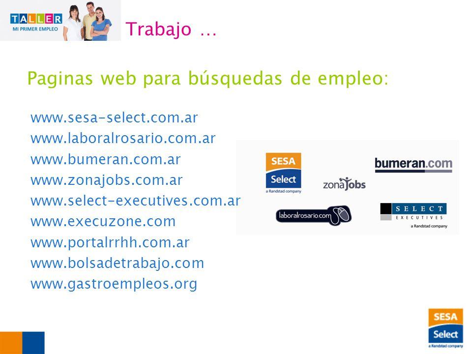 Paginas web para búsquedas de empleo: