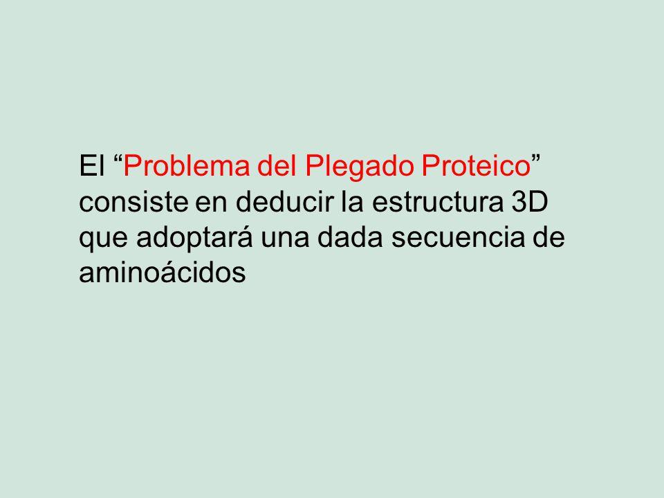 El Problema del Plegado Proteico consiste en deducir la estructura 3D que adoptará una dada secuencia de aminoácidos