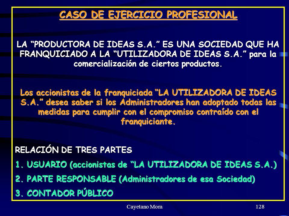 CASO DE EJERCICIO PROFESIONAL