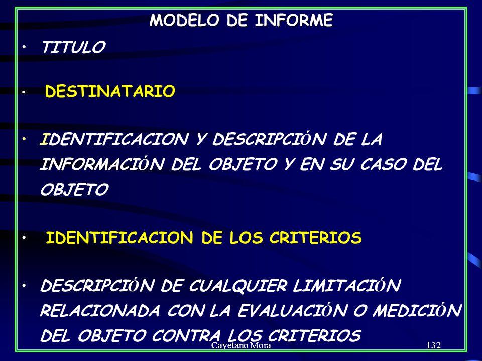 IDENTIFICACION DE LOS CRITERIOS