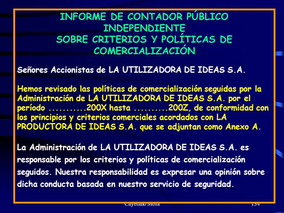 INFORME DE CONTADOR PÚBLICO INDEPENDIENTE