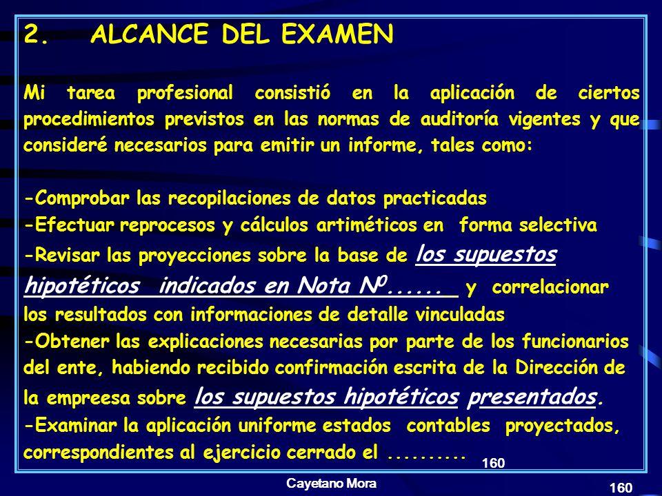 2. ALCANCE DEL EXAMEN