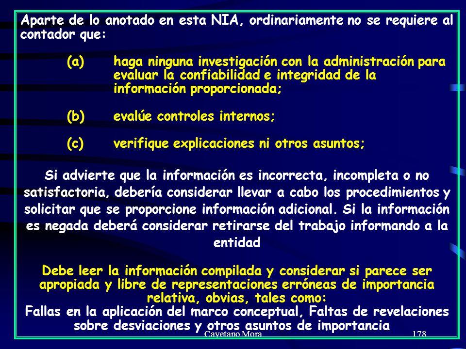 (b) evalúe controles internos;