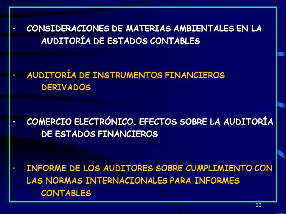 CONSIDERACIONES DE MATERIAS AMBIENTALES EN LA
