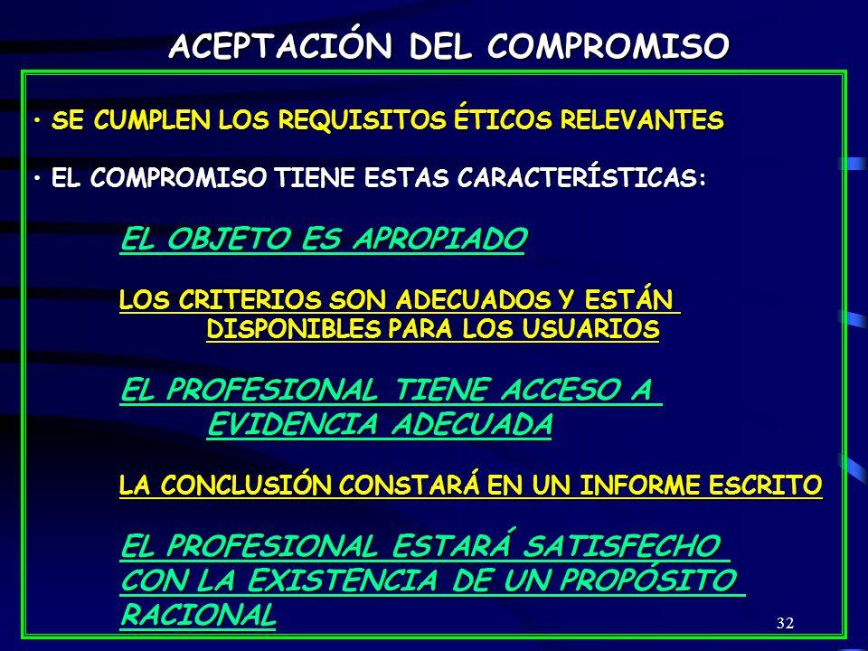 ACEPTACIÓN DEL COMPROMISO