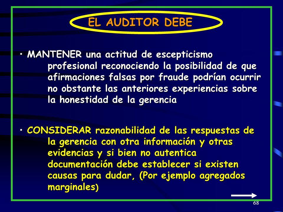 EL AUDITOR DEBE