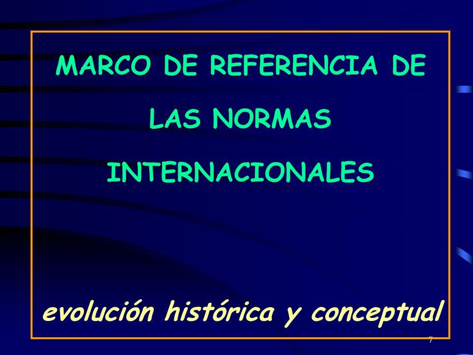 MARCO DE REFERENCIA DE LAS NORMAS INTERNACIONALES