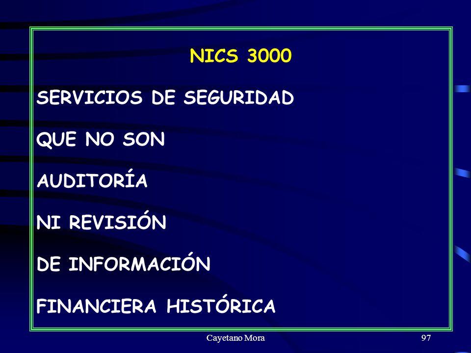 SERVICIOS DE SEGURIDAD QUE NO SON AUDITORÍA NI REVISIÓN DE INFORMACIÓN
