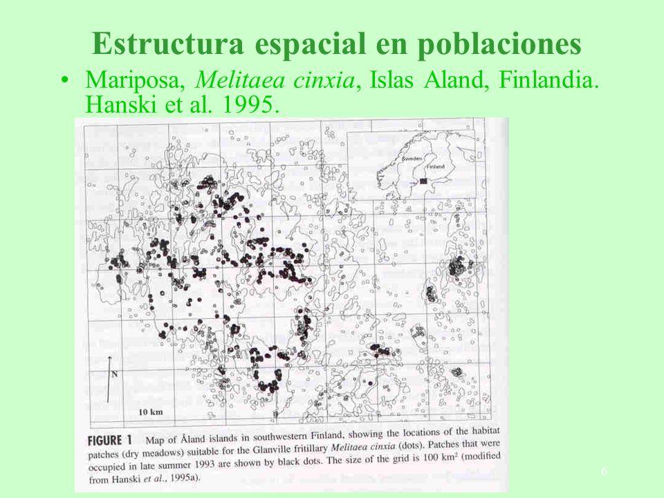 Estructura espacial en poblaciones