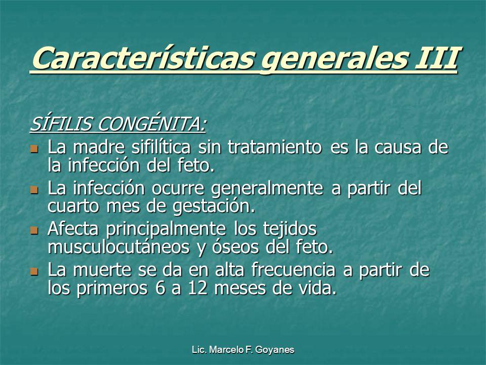 Características generales III