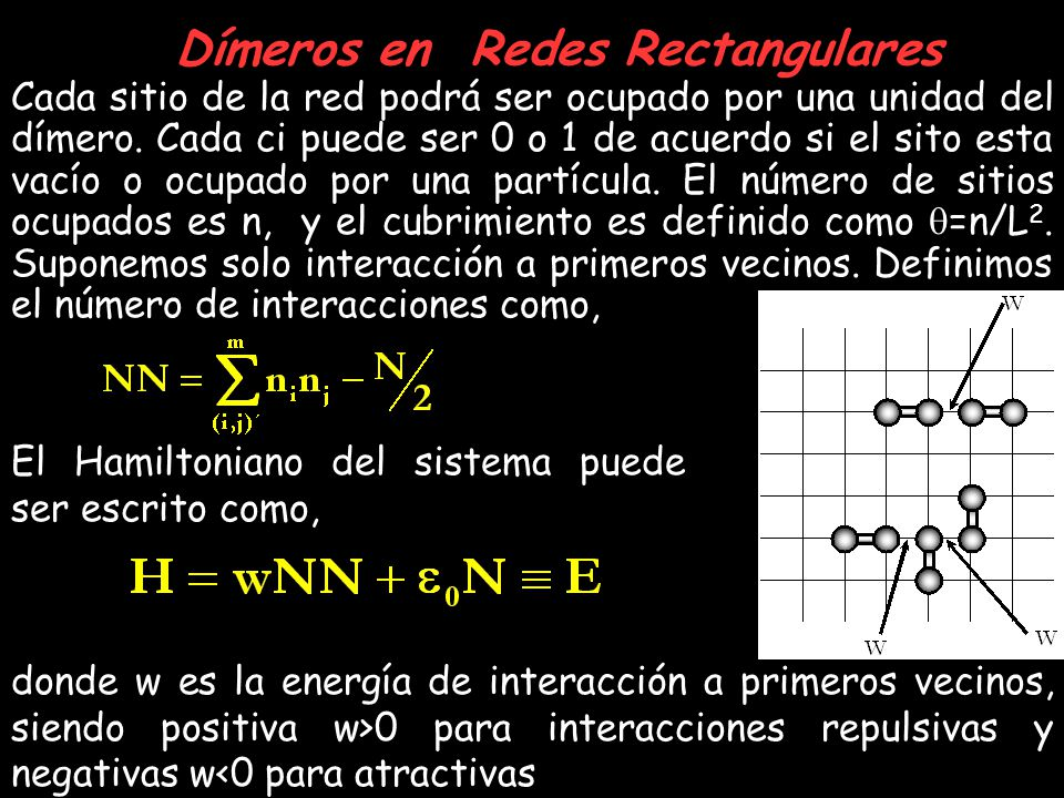 Dímeros en Redes Rectangulares