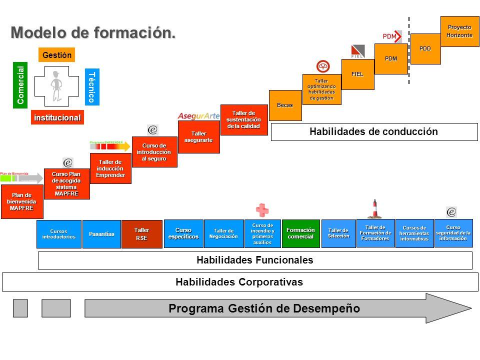 Modelo de formación. Programa Gestión de Desempeño