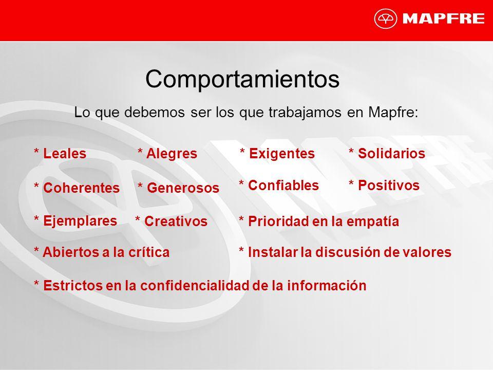 Lo que debemos ser los que trabajamos en Mapfre: