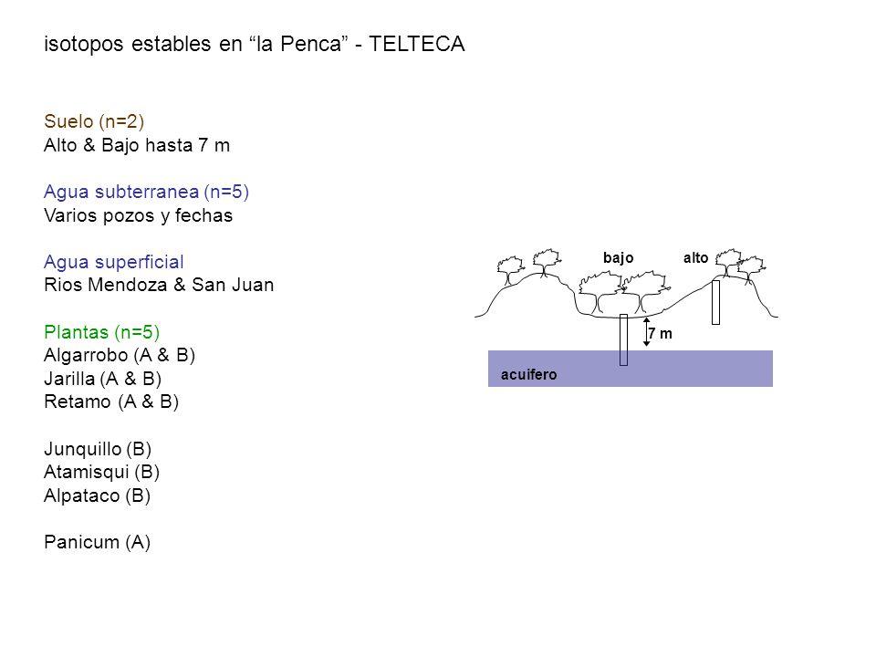 isotopos estables en la Penca - TELTECA