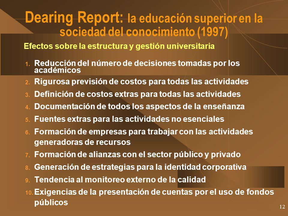 Dearing Report: la educación superior en la sociedad del conocimiento (1997)