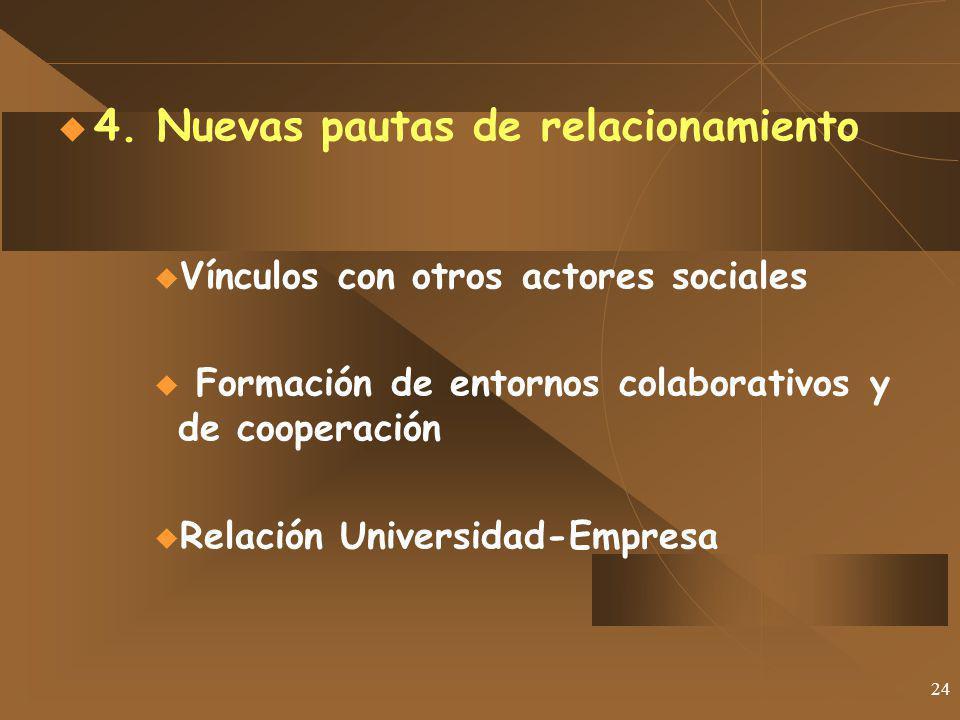4. Nuevas pautas de relacionamiento