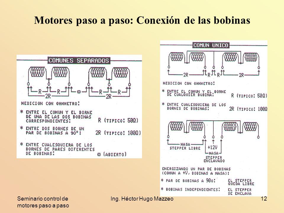 Motores paso a paso: Conexión de las bobinas