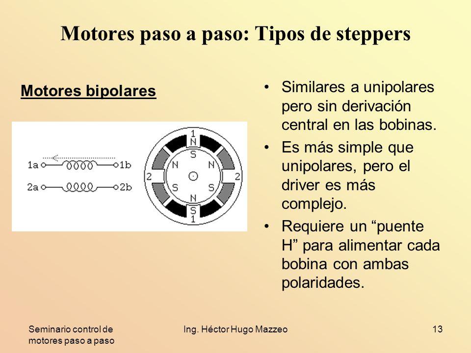 Motores paso a paso: Tipos de steppers