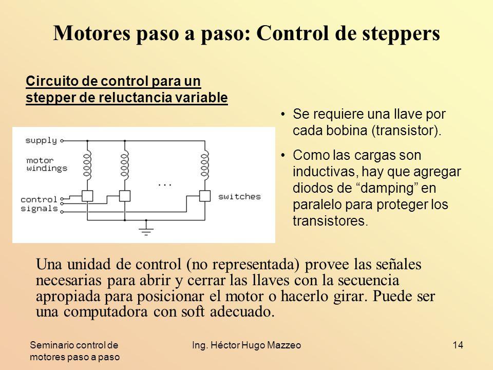 Motores paso a paso: Control de steppers