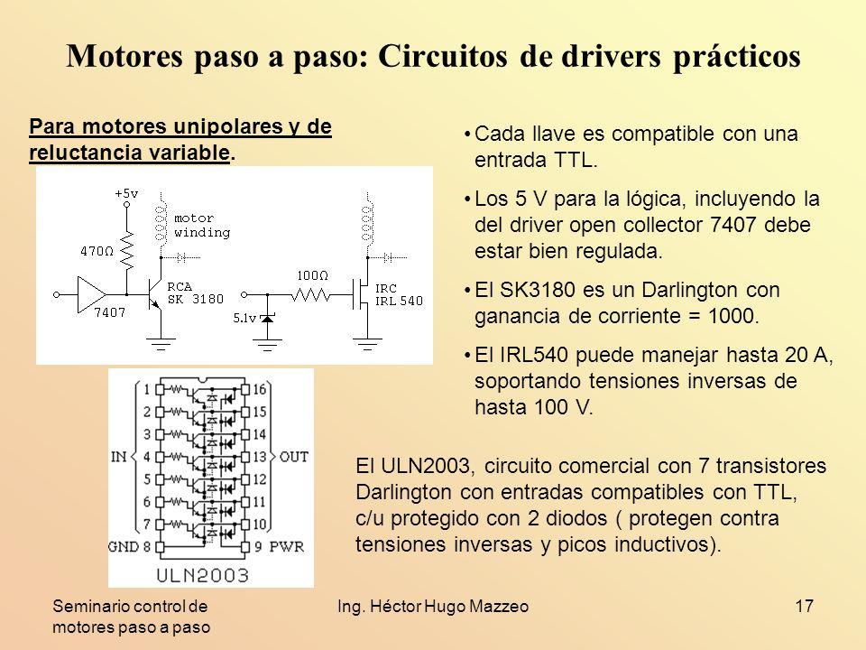 Motores paso a paso: Circuitos de drivers prácticos