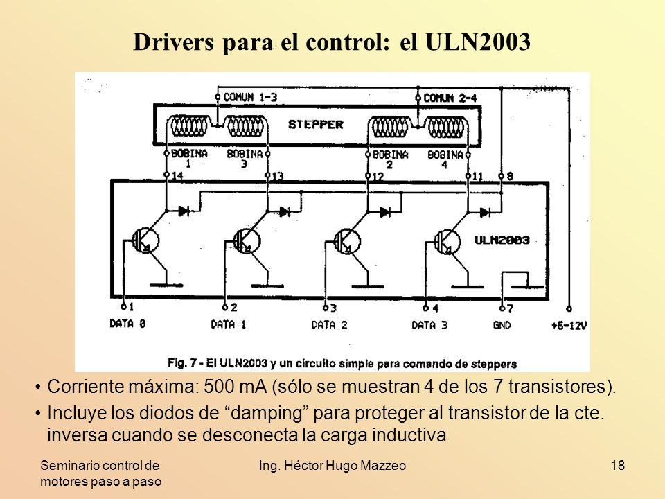 Drivers para el control: el ULN2003