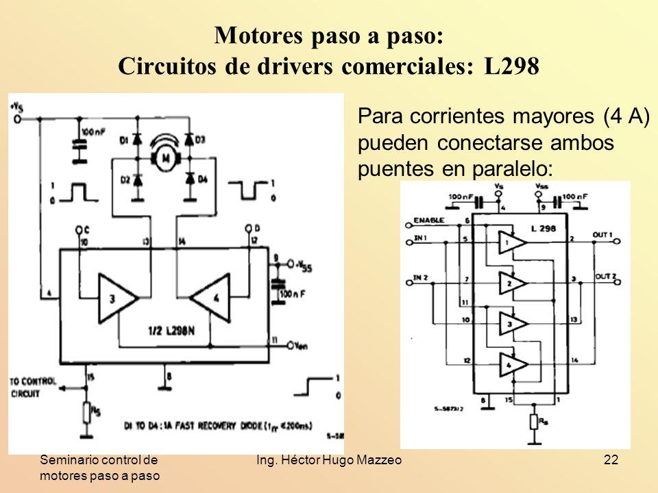 Motores paso a paso: Circuitos de drivers comerciales: L298