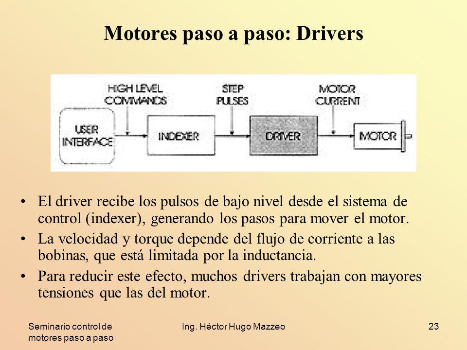Motores paso a paso: Drivers