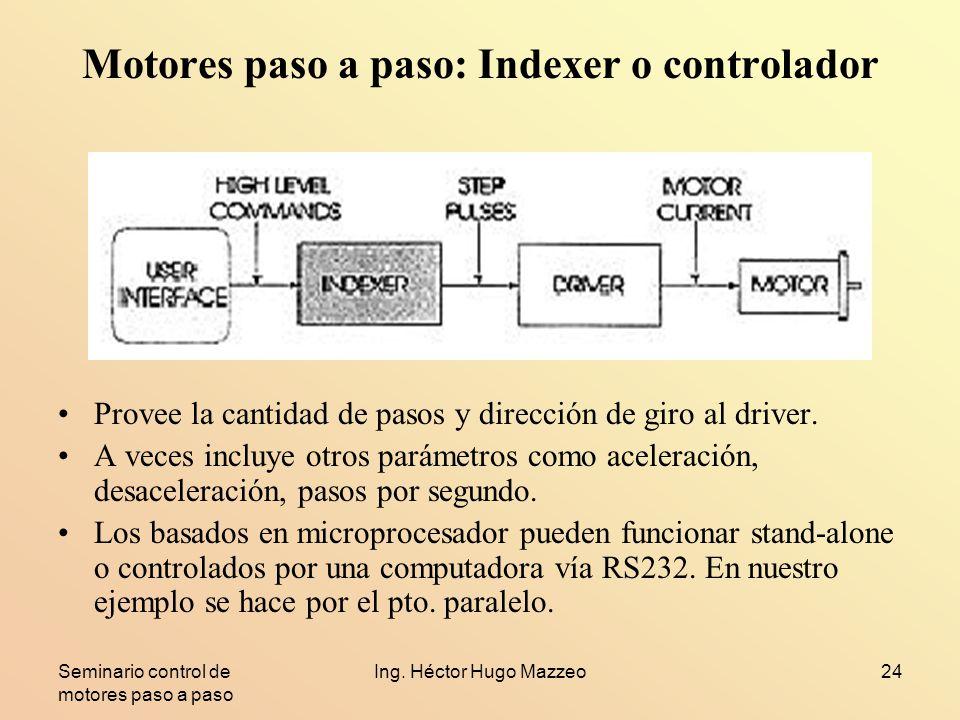 Motores paso a paso: Indexer o controlador