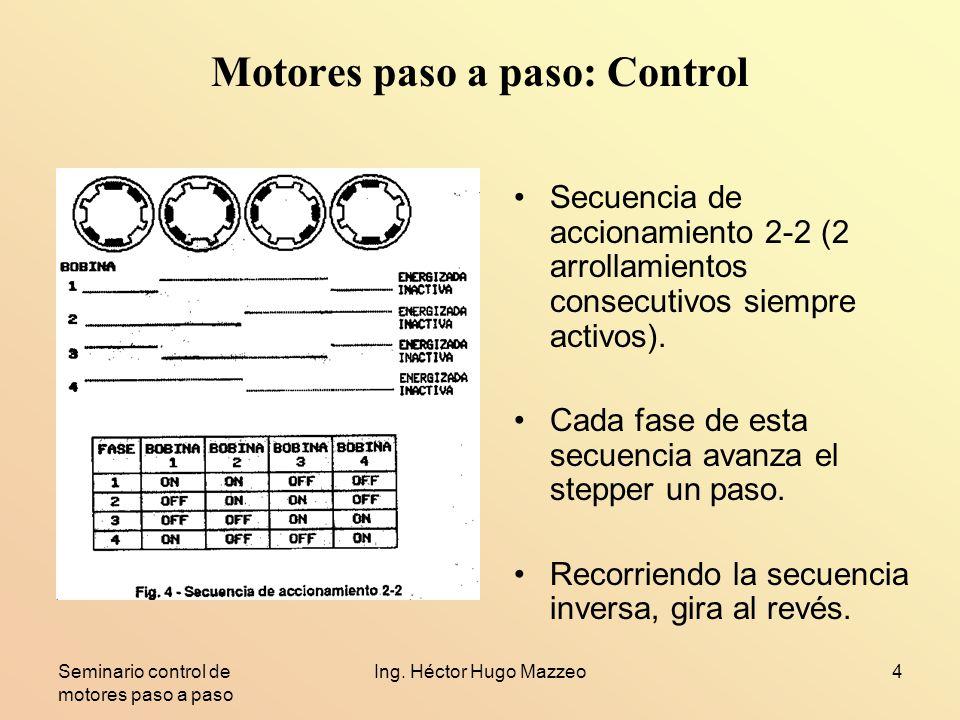 Motores paso a paso: Control