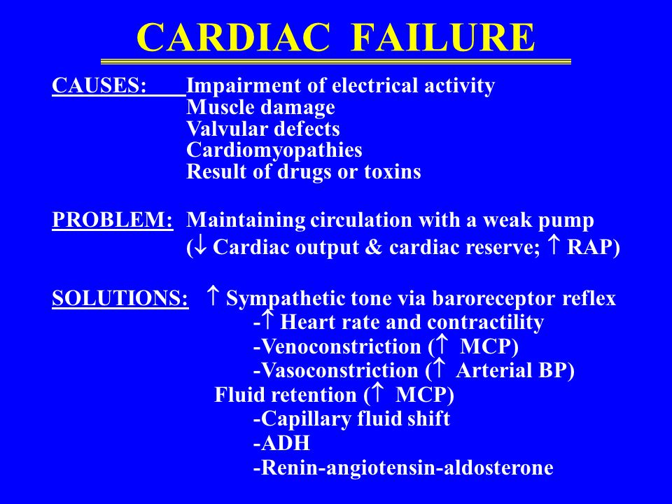 CARDIAC FAILURE CAUSES: Impairment of electrical activity