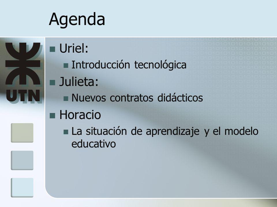 Agenda Uriel: Julieta: Horacio Introducción tecnológica
