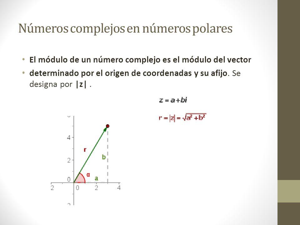 Números complejos en números polares
