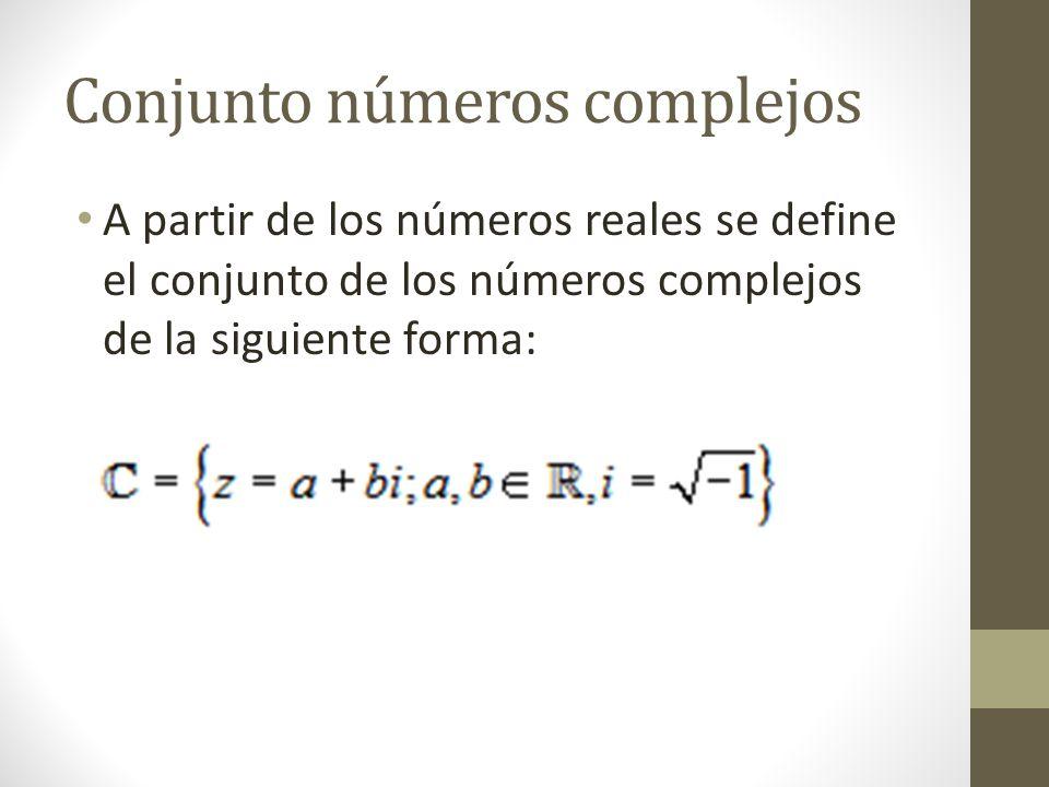 Conjunto números complejos