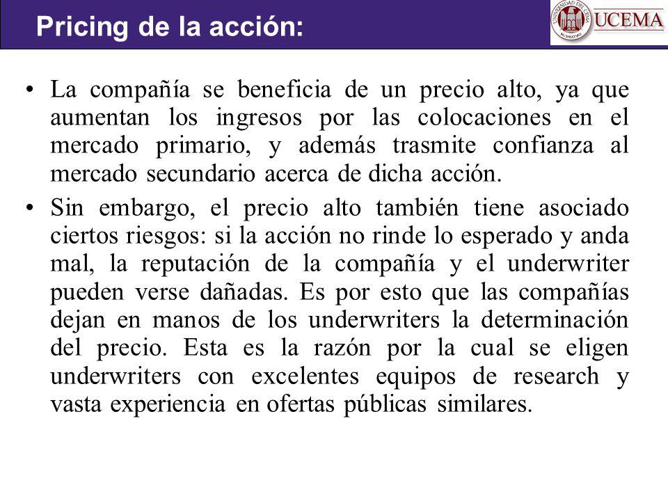 Pricing de la acción: