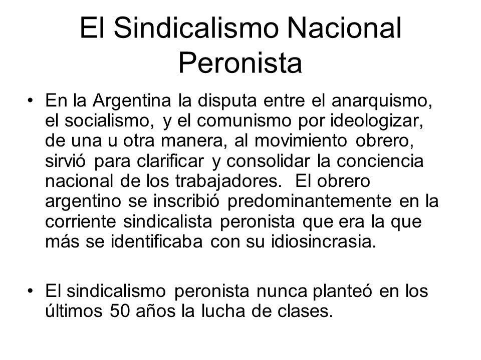 El Sindicalismo Nacional Peronista