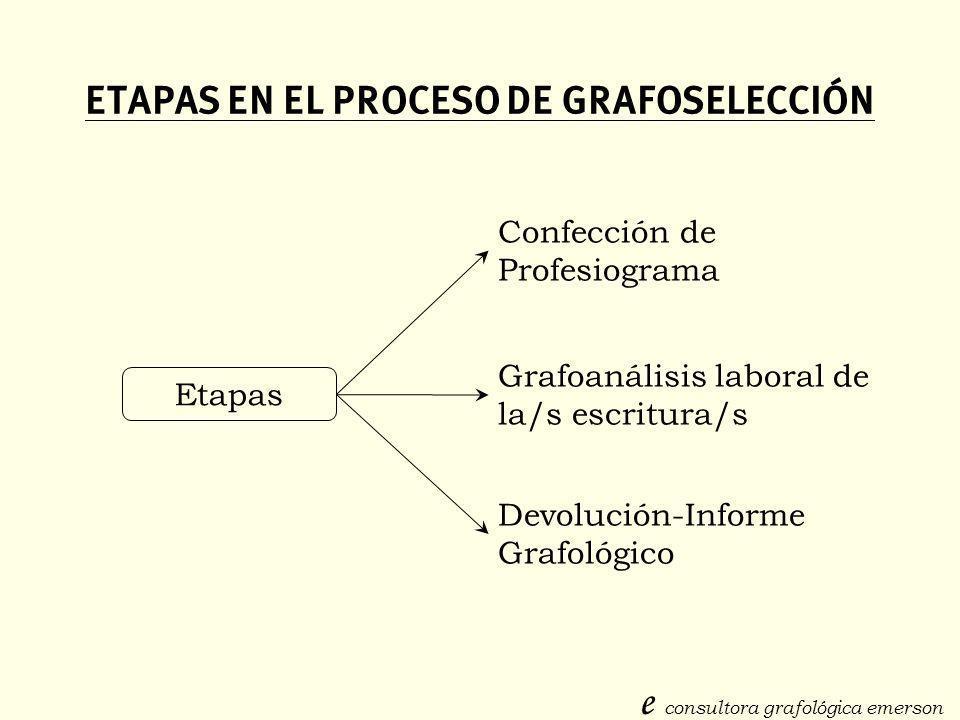 ETAPAS EN EL PROCESO DE GRAFOSELECCIÓN