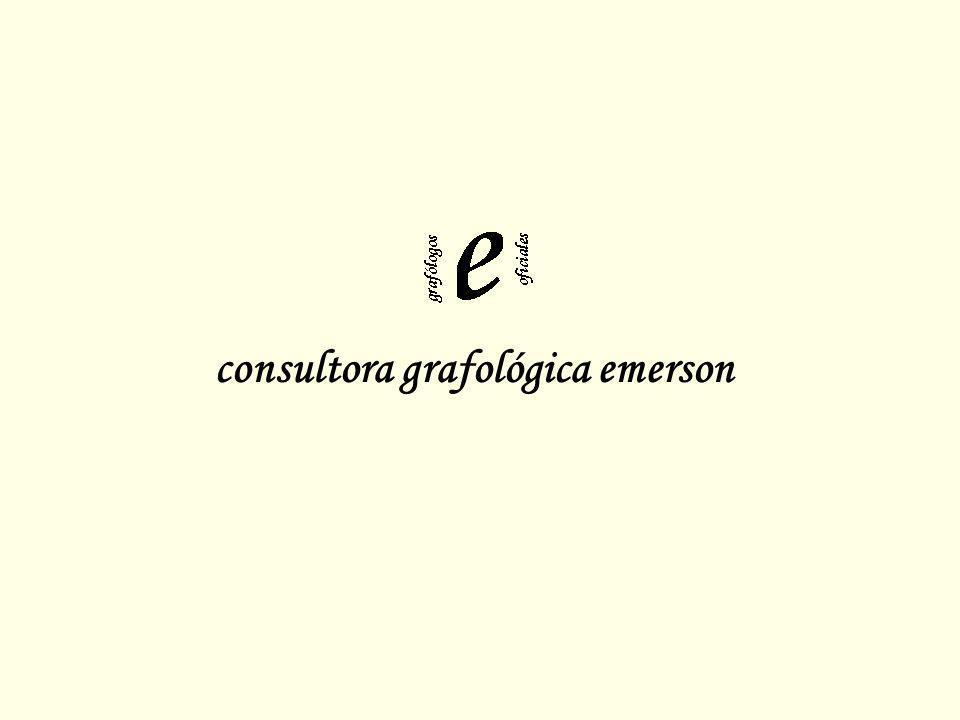 consultora grafológica emerson