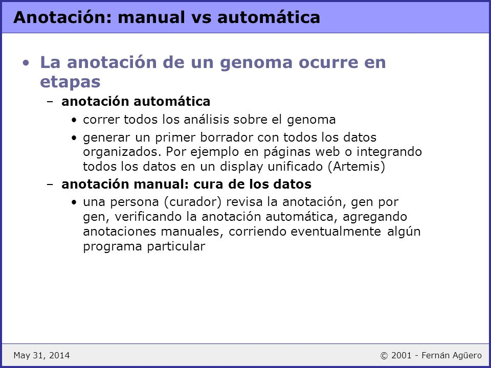 Anotación: manual vs automática