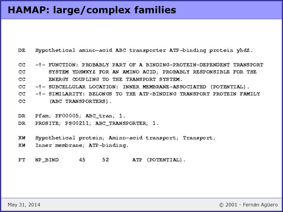 HAMAP: large/complex families