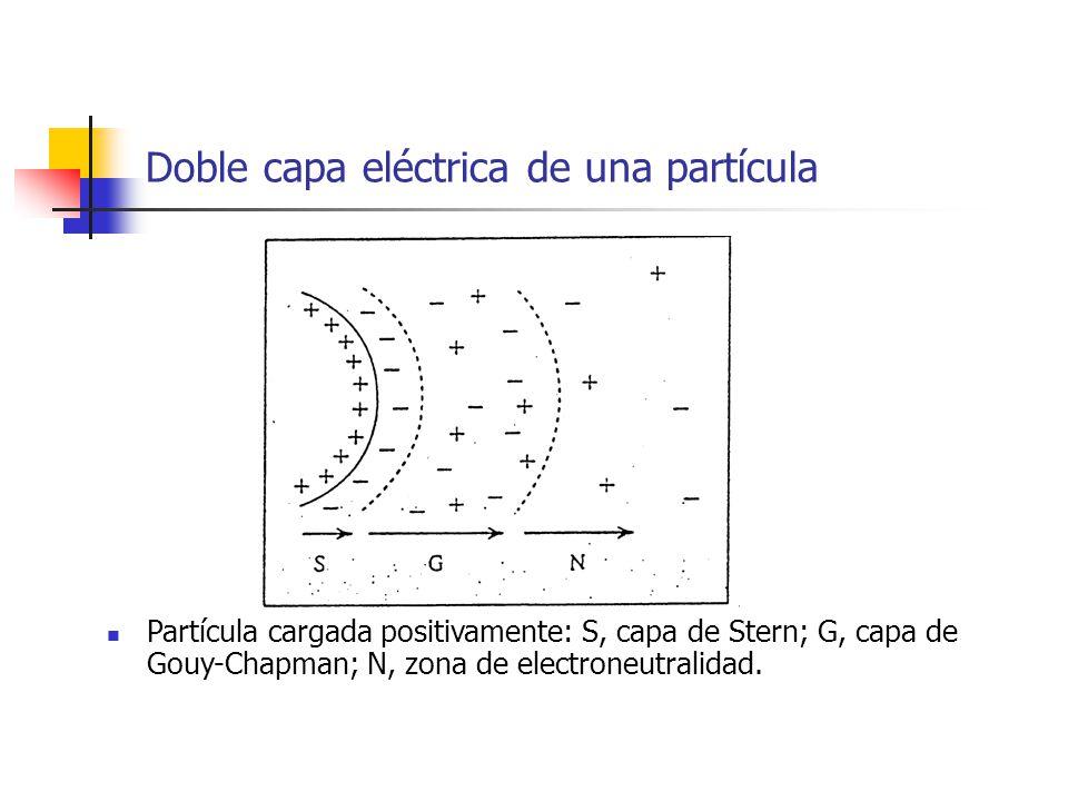 Doble capa eléctrica de una partícula