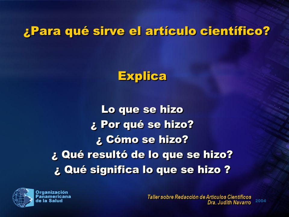 ¿Para qué sirve el artículo científico